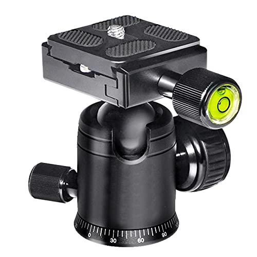 Komake Kugelkopf Stativkopf, Kamera Kugelkopf mit 1/4 Zoll Schnellwechselplatte und Wasserwaagee, 5 kg Tragkraft, für Stativ, Einbeinstativ, Kamera Slider