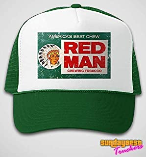 red man chew trucker hat