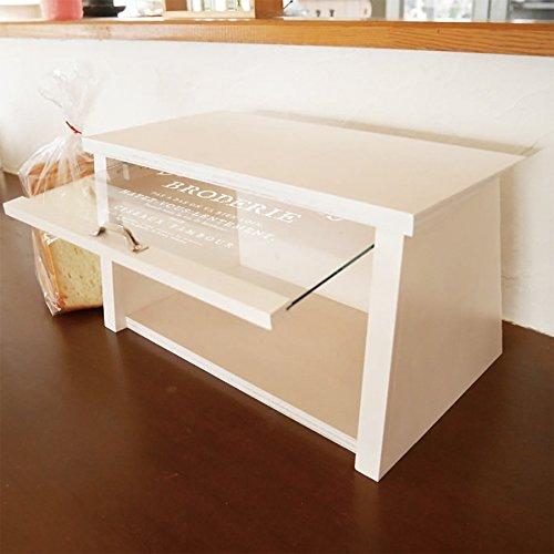 BREA-1476WH日本製ブレッドケースガラス扉パンケース(ホワイト)