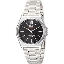 [シチズン キューアンドキュー]CITIZEN Q&Q 腕時計 ソーラー SOLARMATE アナログ ブレスレット ブラック H046-212 メンズ