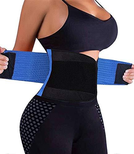VENUZOR Taillentrainer-Gürtel für Frauen – Taillenmieder – Bauchweggürtel – Sport Girdle Belt (UP-Grad) (blau, medium)