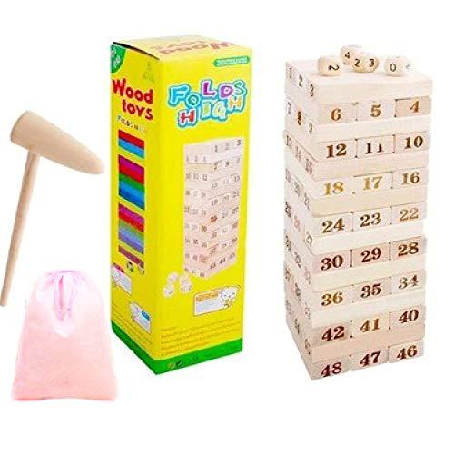 Stapel van muziekblokken, lagen van pompblokken, kinderpuzzels, ouder-kind