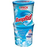 DampRid Refillable Moisture Absorber, Fragrance Free, 10.5 Oz, 2 Count - 1 Pack