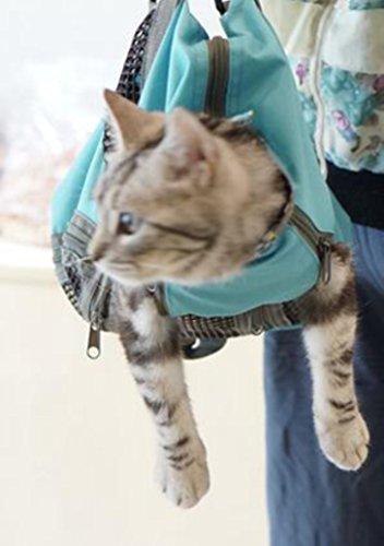 Soyez bon sac de toilettage pour animaux de compagnie chat sac de nettoyage Kitty sans rayures morsure retenue pour le bain coupe-ongles injection injecter examen rose bleu S M