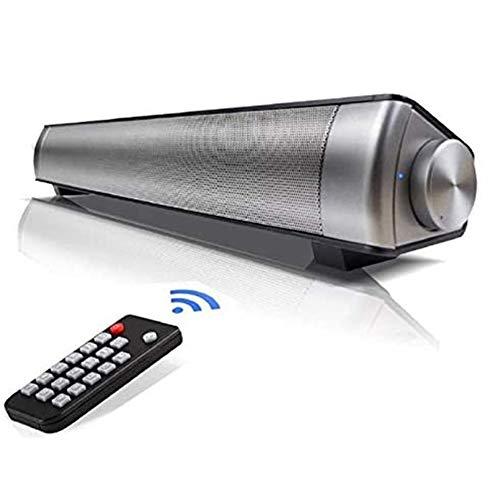 ワイヤレスBluetoothサウンドバー、との明確な内蔵サブウーファーのリモート/AUX/TFカード/USBスピーカーLP-08チャネル2.0のBluetooth 4.0テレビサウンドバーの10ワット - ステレオスピーカーで,1