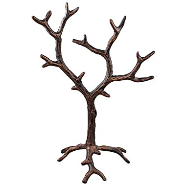 Solid Metal Jewelry Tree Display Stand / Decor Piece - Rustic Copper Finish