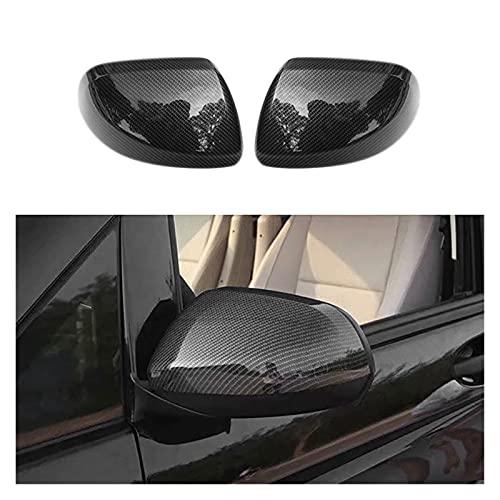 Mei-Xiang FIT FOR Mercedes Benz Vito W447 2014-2018 ABS Fibra de Carbono Exterior Retrovisor Retrovisor Cubierta de ala Espejo Cubiertas Cubiertas (Color : Carbon Fiber Pattern)