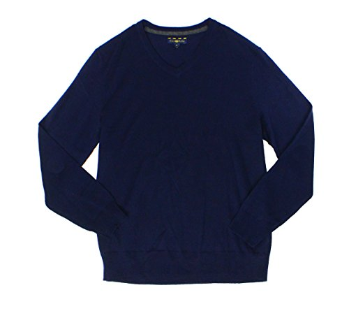 Club Room Mens Wool Blend V-Neck Pullover Sweater Navy S