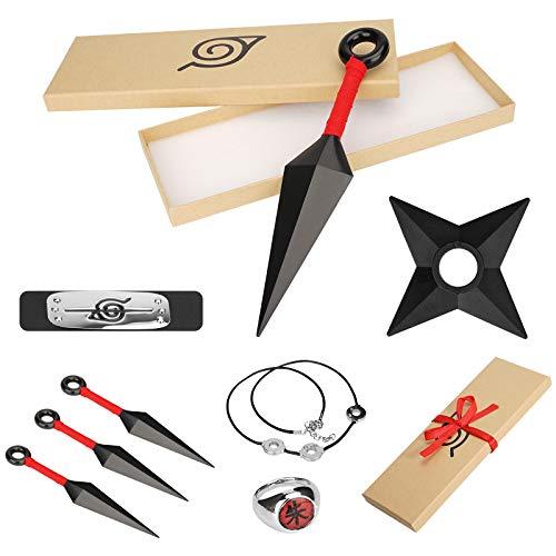 YN 8Pcs Stirnband Cosplay Zubehör, Anime Stirnband Ring Halskett, Stirnband Metall, Requisiten Set Cosplay Kopfband