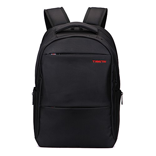 Tigernu zaino uomini Laptop Notebook borsa a tracolla Business Daypacks-nero-L