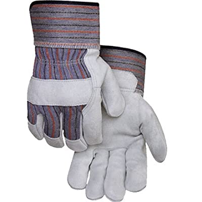 Golden Stag Leather Palm Split Cowhide Work Glove w/Safety Cuff (Large)