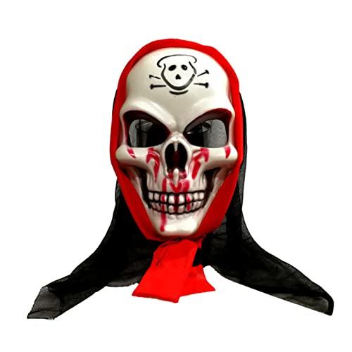 Diko Halloween Maschera, Halloween Maschera spaventosa, Maschera da scheletro, Applica a Uomini Donne Bambini Carnevale Halloween Cosplay Party