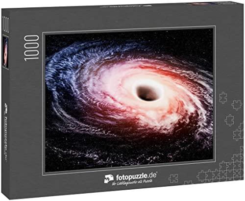 fotopuzzle.de Puzzle 1000 Teile Loch Schwarzraum Weg Fiktion Wasserstoff Nebel Galaxie Weiß Erde Wolke kosmische Atmosphäre Explosion Meteorit Deep Star Konzept - Stock Bild