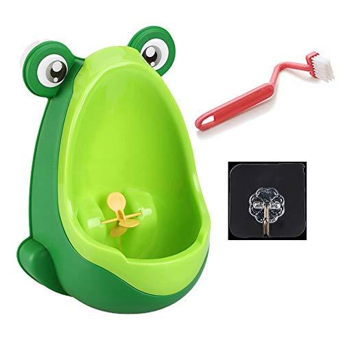 CL- Toilettenschüssel - an der Wand befestigter Urinalkind des Baby Urinalkindes stehender Urinaljungen Urinal (Color : Green)