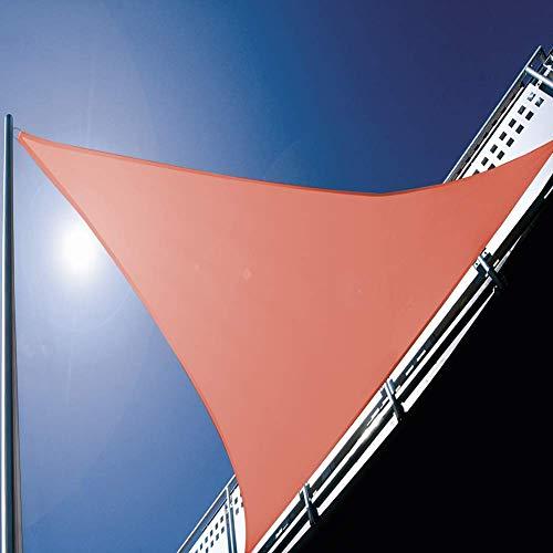 GEQWE Toldo triangular de 300 cm x 300 cm x 300 cm, bloqueando eficazmente el sol, toldo impermeable y transpirable, adecuado para tornos al aire libre, patios, jardines, gris, rojo