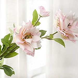 Artificial and Dried Flower 3Heads Long Brah Lotus Flower Artificial Flowers Arrived Silk Flower for Wedding Home Party Decoration Fake Flowers