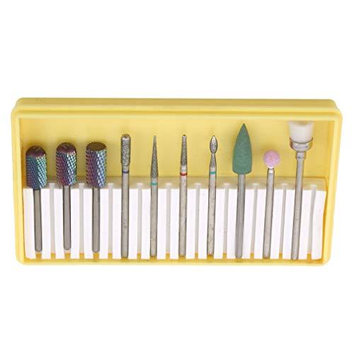 #N/A Sawyerda Kit d'outils de polissage pour ongles avec boîte de rangement carrée transparente pour ongles Outil de pointillement Accessoires pour manucure DIY, Alliage, style 3, As Description