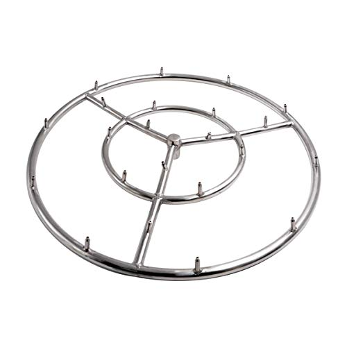 Skyflame 18 Inch Round Stainless Steel Fire Pit Jet Burner Ring - High Flame