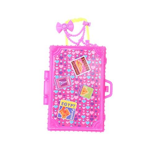 KOFUN Maleta, Maleta de viaje Accesorios de muñeca Juguetes de los niños Equipaje para la muñeca Ideal de Navidad Cumpleaños Maleta de Juguete de Regalo para los Niños B#