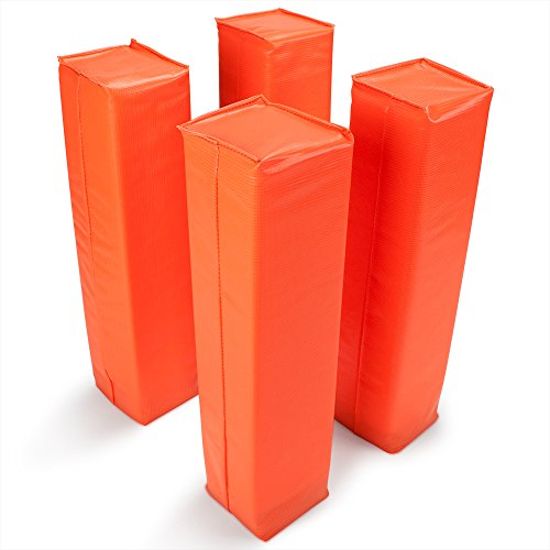 Crown Sporting Goods Anchorless Weighted Football Pylons (Set of 4), Orange