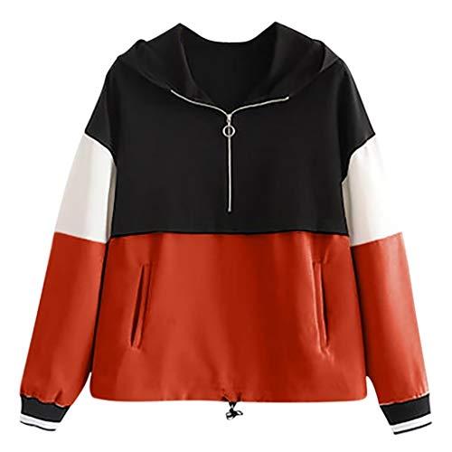 OUICE Sweat Femme Manches Longues Middle School Sport Mode Imprimé Tops Blouse Sweatshirt-Pullover