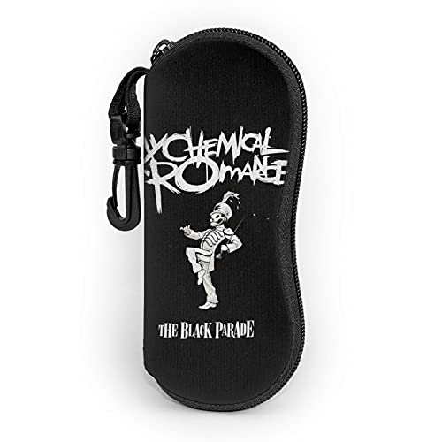 My CheMical RomAnce Sunglasses Soft Case With Belt Clip, Portable Glasses Case Neoprene Zipper Eyeglass Bag