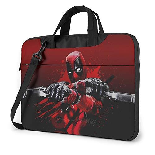 De-Ad-Po-Ol 13 14 15.6 Inch Laptop Sleeve Case,Waterproof Slim Computer Carry Case with Strap Messenger Laptop Shoulder Bag