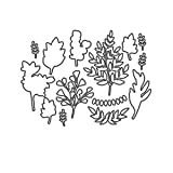Forever Fern Metal Cutting Dies and Stamps DIY Scrapbooking Card Stencil Paper Craft Handmade Album Handbook Home Decor,only die