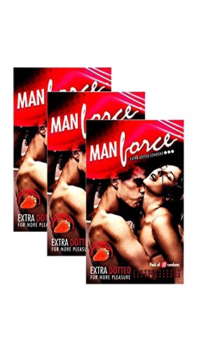 Manforce 3 In 1 Wild Condoms – 10 Pieces, Pack of 7 (Strawberry Flavoured)