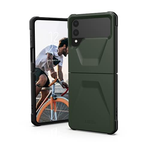 Urban Armor Gear Civilian Case für Samsung Galaxy Z Flip3 5G Hülle [Offiziell Designed for Samsung Zertifiziert, Robuster Schutz nach Militärstandard, Wireless-Charging kompatibel] Olive