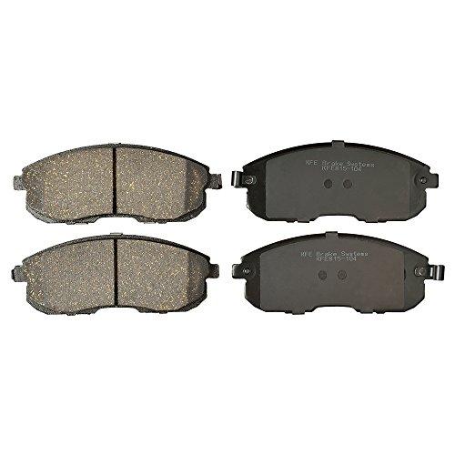 KFE KFE815-104 Ultra Quiet Advanced Premium Ceramic Brake Pad FRONT Set For: Nissan Altima, Sentra, Cube, Juke, Maxima, Versa, 350Z; Infiniti G20, G35, I30; Suzuki SX4