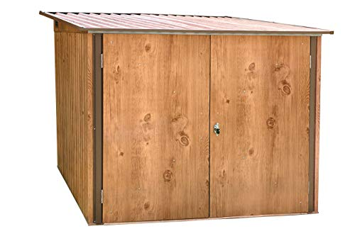 Duramax Metallgerätehaus Fahrradbox für bis zu 4 Fahrräder, Holz-Dekor Eiche