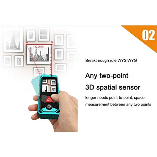 Handheld Bluetooth Afstandsmeter 80m Met Roterende Touch Screen Rechargerable Afstand Meter