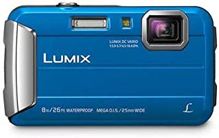 Panasonic Waterproof, Shockproof, Freezeproof, Dustproof Lumix FT30 Underwater Digital Point and Shoot Tough Camera, Blue (DMC-FT30GN-A)