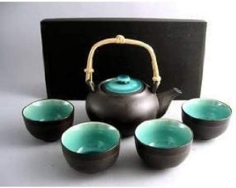 Japanese Ocean Max 78% OFF Blue Five Cheap super special price Piece Teaset