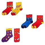 Happyyami 6 Pairs Chinese New Year Socks Year of the Ox Socks Cotton Warm Socks Chinese Style Middle Tube Stockings