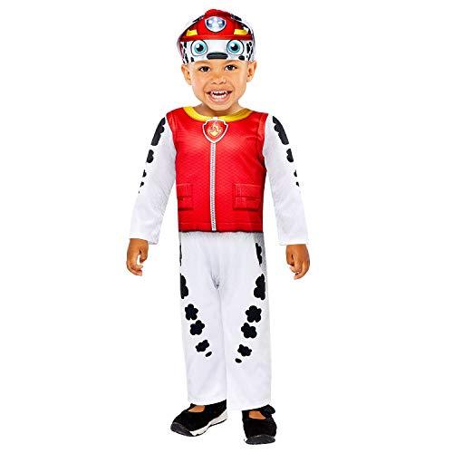 Amscan 9909107 Marshall Disfraz de Halloween para beb, 8-24 meses, rojo, 18-24