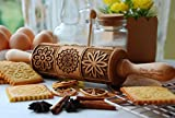 Paisley Embossed Rolling Pin for Baking, Engraved Rolling Pins for Springerle...