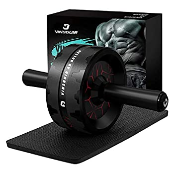 Vinsguir Ab Roller for Abs Workout Ab Roller Wheel Exercise Equipment for Core Workout Ab Wheel Roller for Home Gym Ab Workout Equipment for Abdominal Exercise  Black&Red