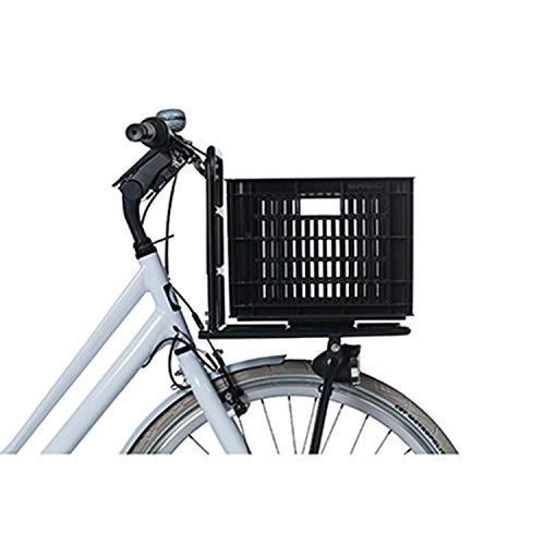 Basil Unisex– Erwachsene Crate M Fahrradkiste für den Vorderradgepäckträger, Black, 40 cm x 33 cm x 25 cm