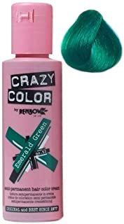 crazy color temporary hair color Emraled green