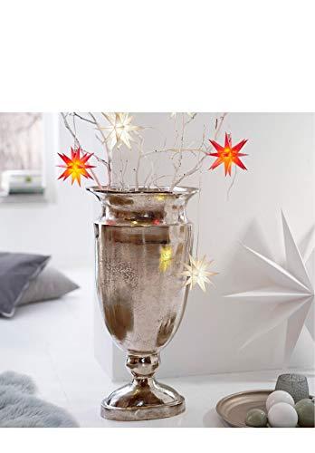 Pureday Bodenvase Amphore Colombo - Vase - Aluminium - Silber - Höhe ca. 66 cm