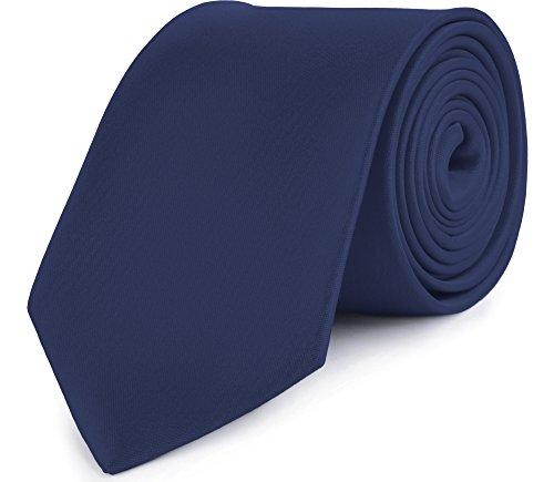 Ladeheid Herren Breite Krawatte KP-8 (150cm x 8cm, Dunkel blau)
