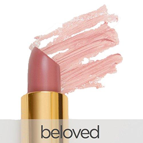 La Bella Donna Mineral Light Up Lip farbe | All Natural Reines Mineral Lippenstift | Langlebige Farbe | Feuchtigkeitsspendende Formel | 100% Vegan | Hypoallergen und Cruelty Free 3.4G Geliebte