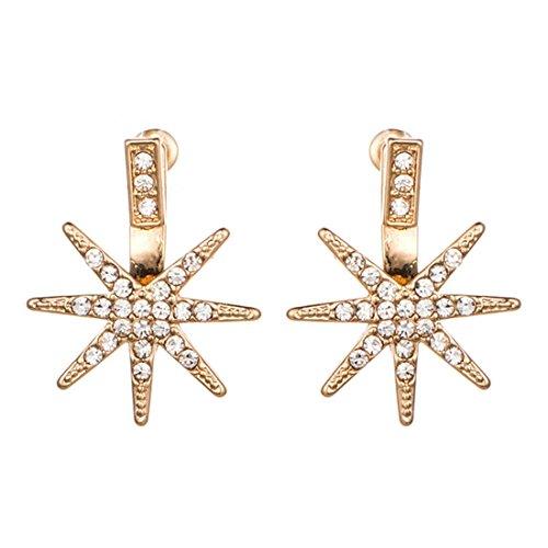 Orecchini/Cerchi/Clip-on/Cuff e wrap/Gocce e pendenti/Jacket/Orecchini a lobo/Orecchini doppi/Orecchini statement/ottagonale star diamond orecchio tagliato,golden