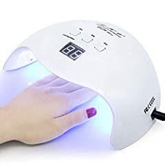 ❤High power and Smart:40w nail lamp with 21pcs led lights,110-240 voltage.3timer(30,60s, 99s) for your choose,LCD screen and smart sensor- put your hand in curing lamp and the LED lights will automatically light. ❤User-friendly design: Easy to clean,...