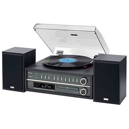#07 Teac MC-D800 Sistema Home Audio All-In-One con Giradischi, Nero
