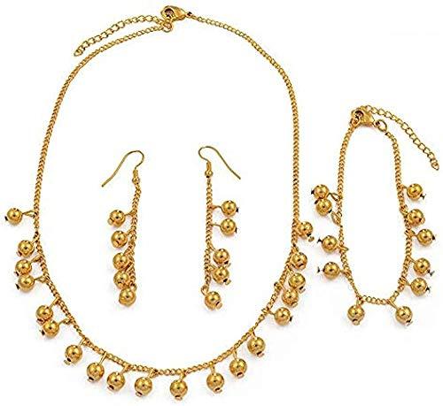 Cuentas Collar Pendientes Conjuntos de pulseras Niñas Niños Juego de joyas con cuentas de bolas Regalos de Micronesia