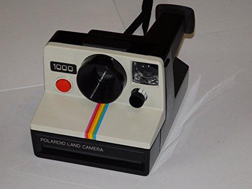 Polaroid 1000 Sofortbildkamera mit roten Knopf, klassisches Vintage-Design im Stil der 1970er