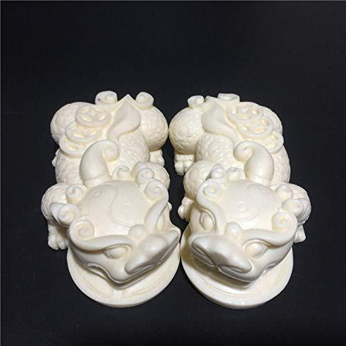 BGHYU Estatuilla de Tropas Valientes Blancas, esculturas de Arte Moderno, decoración de Bestia auspiciosa, decoración del hogar, Regalo